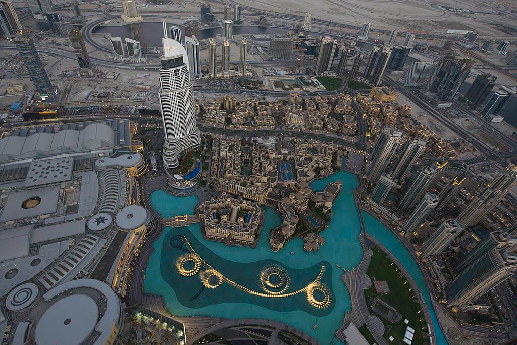 vue panorama depuis la tour Burj Khalifa