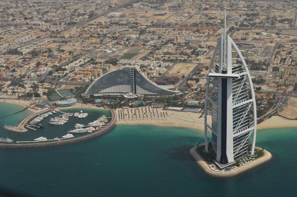 Burj Al Arab vu de haut